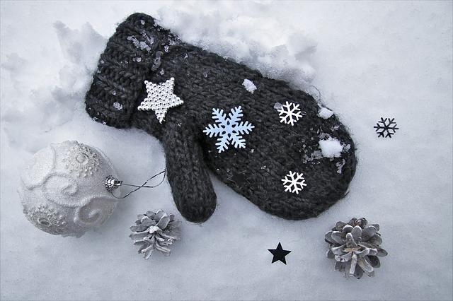 クリスマス・手袋・雪