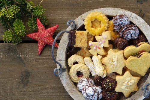 いろいろな種類のクッキー
